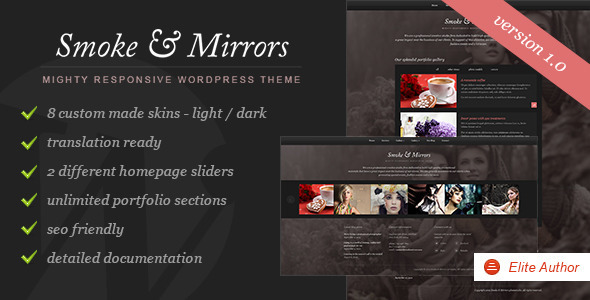 ThemeForest Smoke & Mirrors Wordpress Theme WordPress Creative Portfolio 3618648