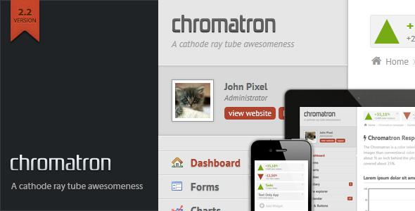 ThemeForest Chromatron HTML5 Admin Backend 234784