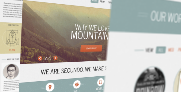 ThemeForest Secundo Site Template Site Templates Creative Portfolio 3623821