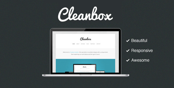 ThemeForest Cleanbox Clean Responsive Awesome Site Templates Creative 3476575