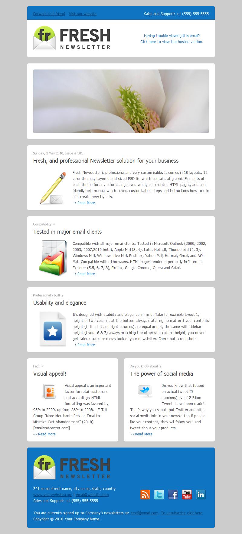 10 email templates best practices for e marketing. Black Bedroom Furniture Sets. Home Design Ideas