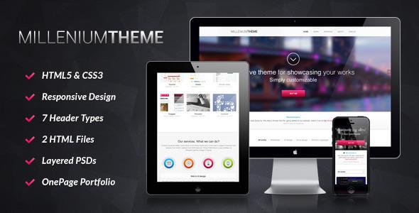 ThemeForest Millennium Responsive One Page WordPress Theme WordPress Creative Portfolio 3549073