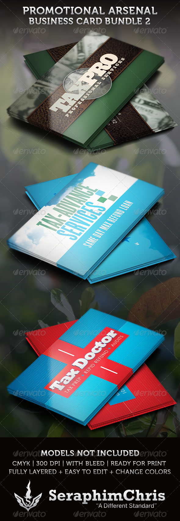 GraphicRiver Promotional Arsenal Business Card Bundle 2 3630599