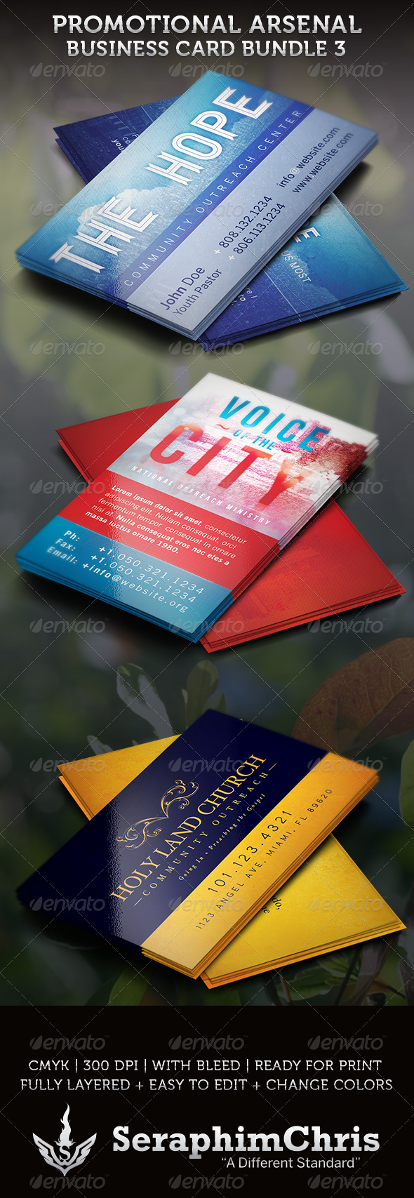GraphicRiver Promotional Arsenal Business Card Bundle 3 3630686