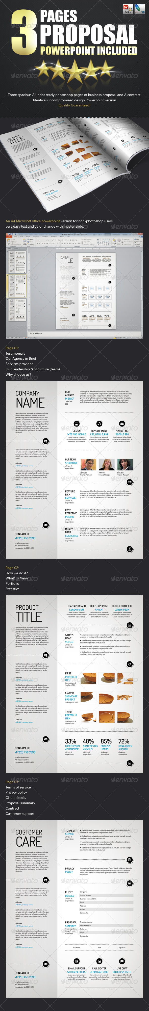 GraphicRiver Spacious Business Proposal Template PPTX & PSD 3631914