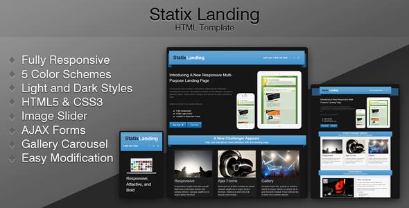 ThemeForest Statix Landing Marketing Landing Pages 3632856