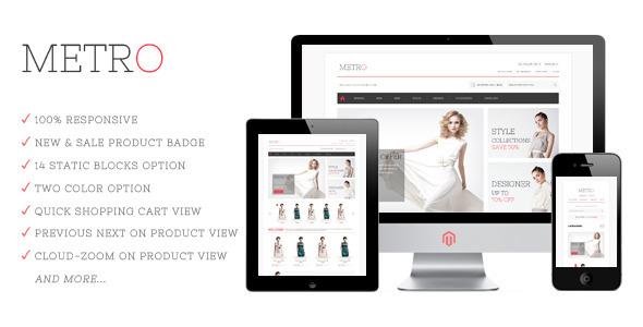 ThemeForest Metro Responsive Magento Theme eCommerce Magento Fashion 3614985