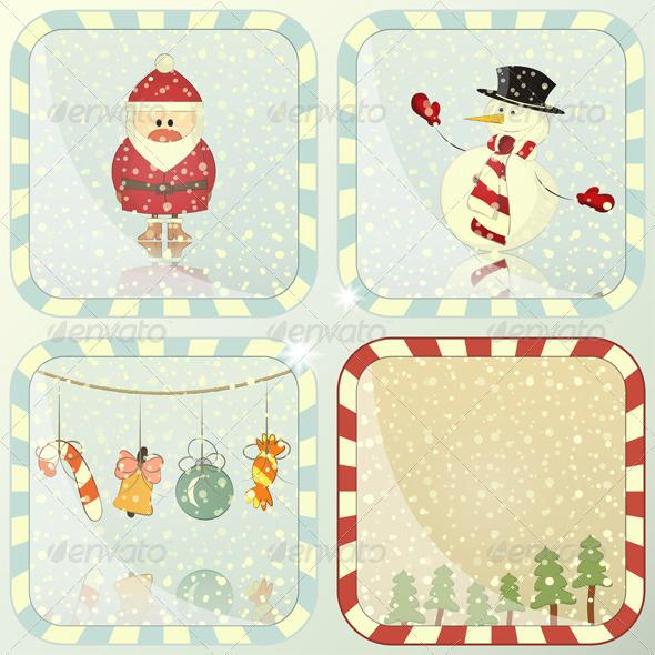 GraphicRiver Set of Christmas Cards 3637969