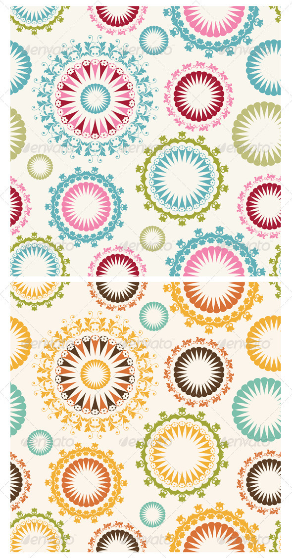 GraphicRiver Floral Seamless Pattern 3638150