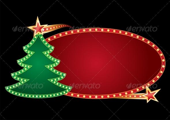 GraphicRiver Christmas Neon 3638643