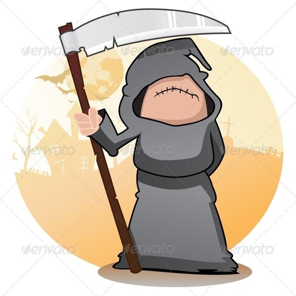 GraphicRiver Cartoon Grim Reaper 3638664