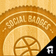 7 Retro Social Badges - GraphicRiver Item for Sale