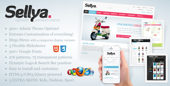 ThemeForest Sellya Responsive OpenCart Theme eCommerce OpenCart 3431353