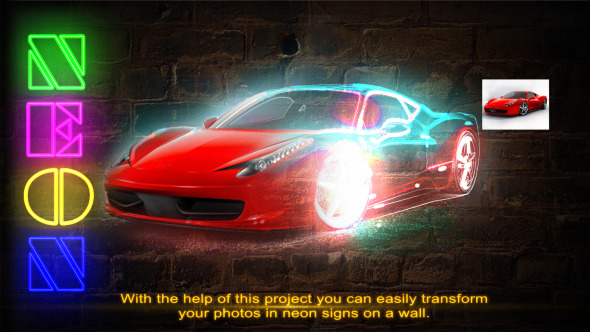 VideoHive Your pictures in neon 3612328