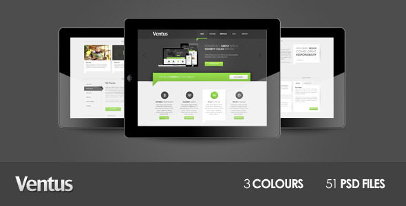 ThemeForest Ventus Unique Multi Purpose Theme PSD Templates Corporate 3628225