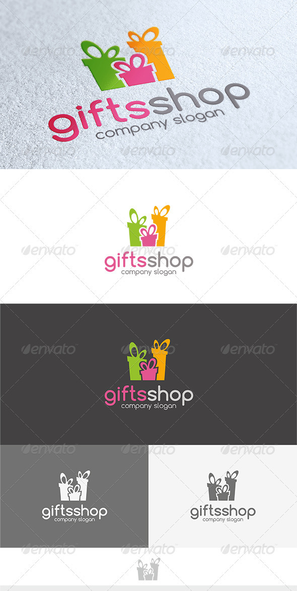 GraphicRiver Gifts Shop Logo 3603212