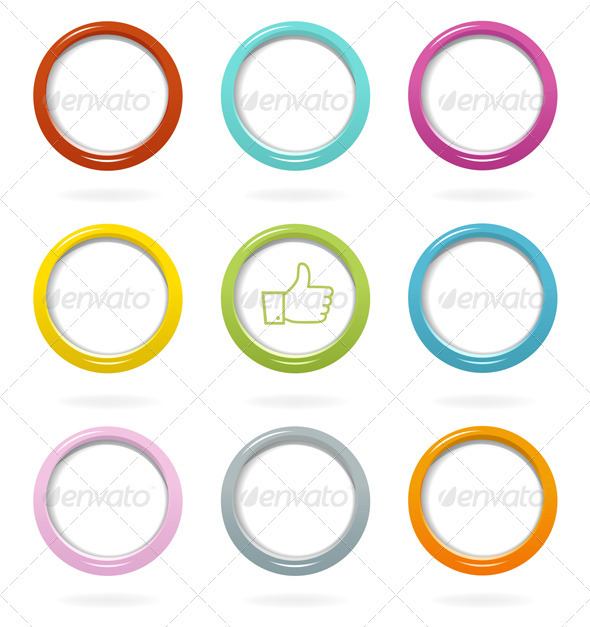 GraphicRiver Colorful Web Bubbles Set 3603366