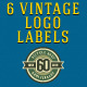 6 Vintage Logo Labels - GraphicRiver Item for Sale