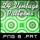 24 Tileable Vintage Patterns - GraphicRiver Item for Sale