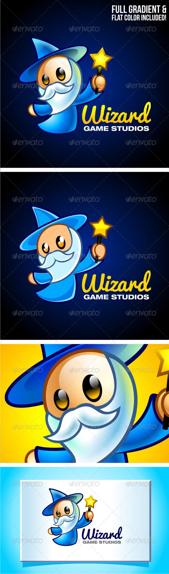 GraphicRiver Wizard Game Studios Cartoon Logo 3603464