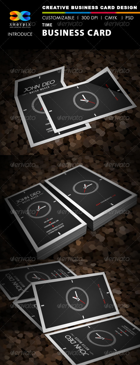 GraphicRiver Time Business Card 3656303