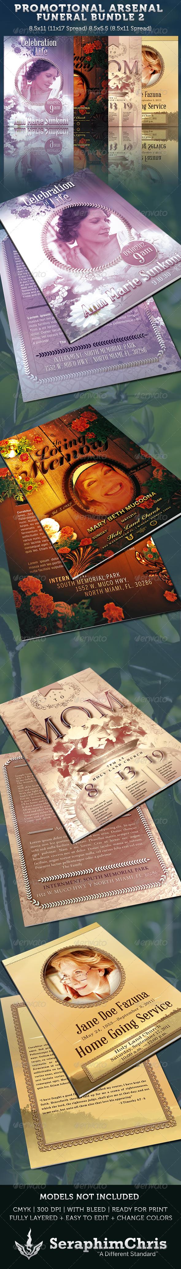 GraphicRiver Promotional Arsenal Funeral Program Bundle 2 3656537