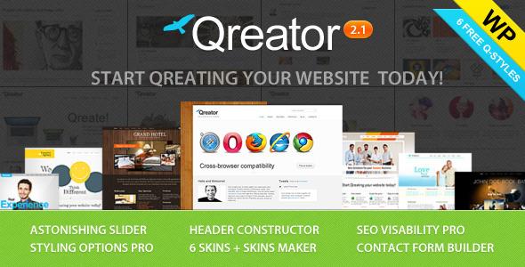 ThemeForest Qreator Responsive Premium Wordpress Theme 2034959