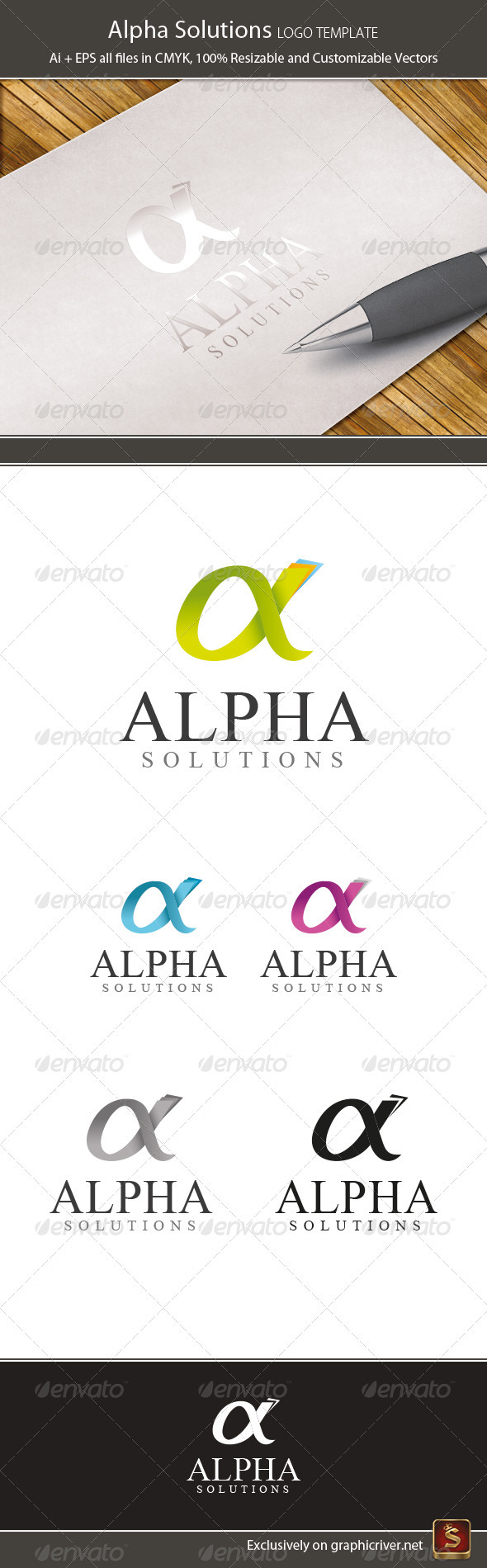 GraphicRiver Alpha Logo Template 3660143