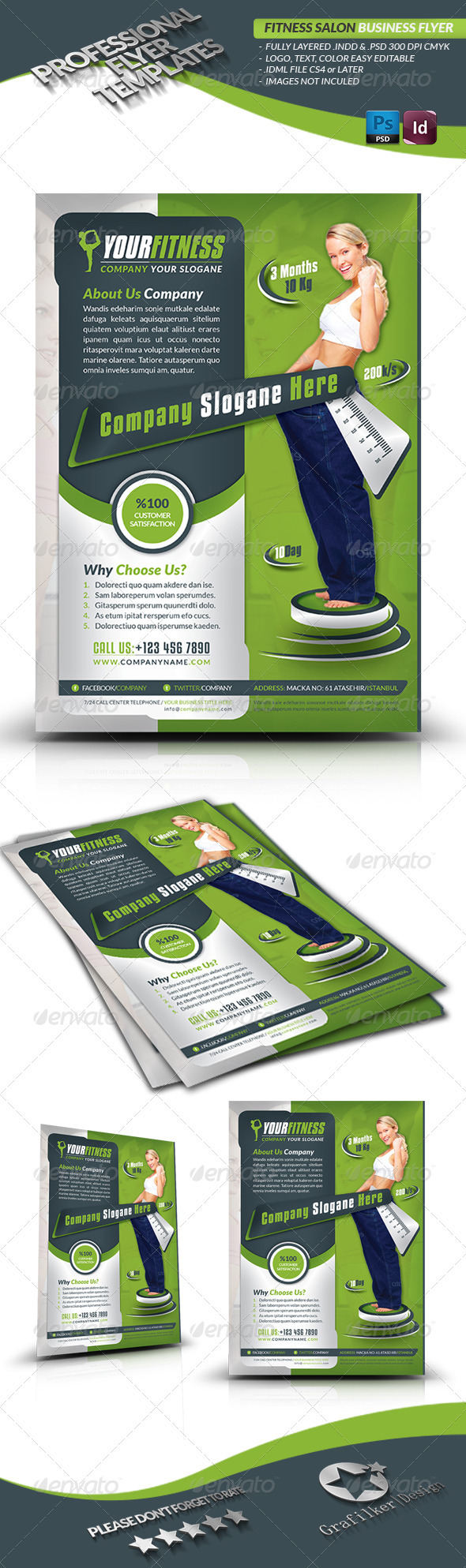 GraphicRiver Fitness Center Business Flyer 3660367