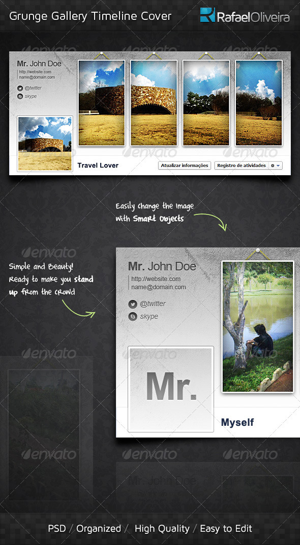 GraphicRiver Grunge Gallery FB Timeline Cover 3661195
