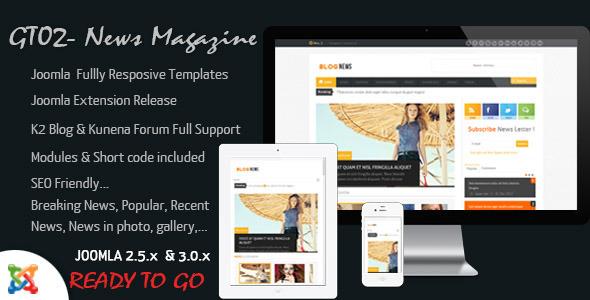 ThemeForest News Magazine Joomla Responsive Templates 3354124