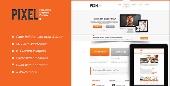 ThemeForest Pixel Responsive Wordpress Theme 3344079
