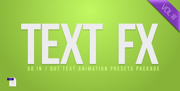 VideoHive Text Fx Vol.3 3671196