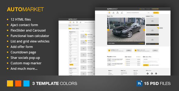 ThemeForest AutoMarket HTML Vehicle Marketplace Template 3671889