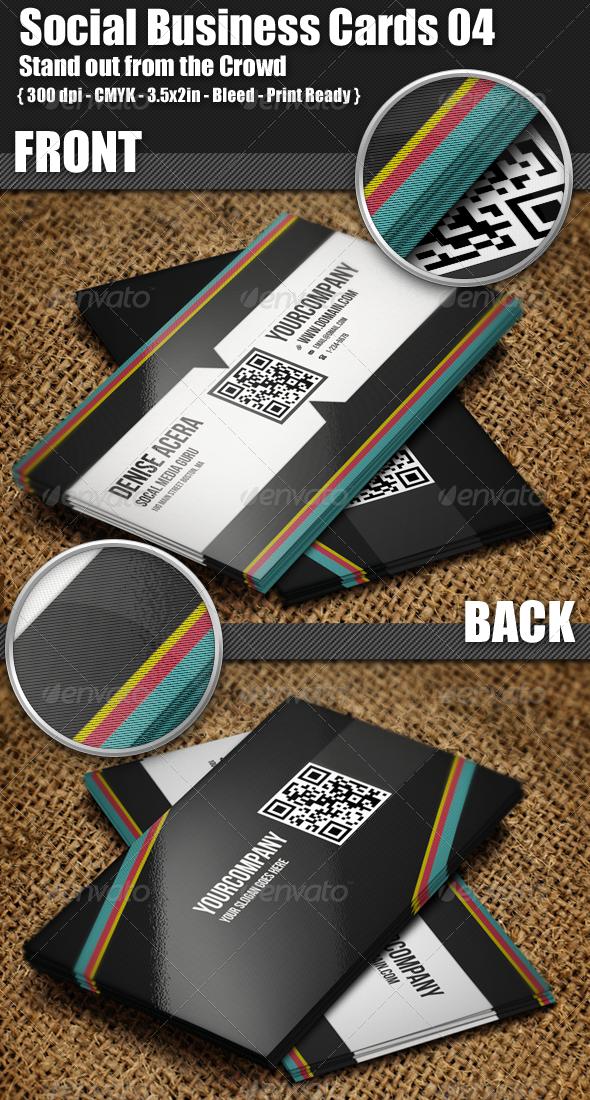 GraphicRiver Social Business Cards 04 3672347