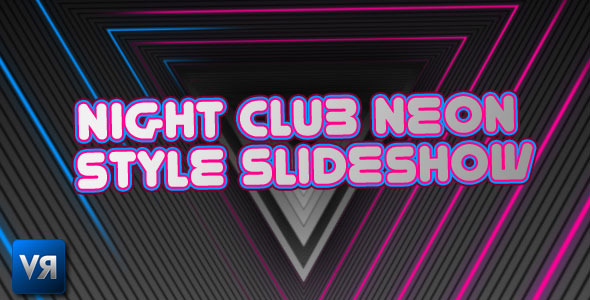 After Effects Project - VideoHive Triangle neon style slideshow 395218