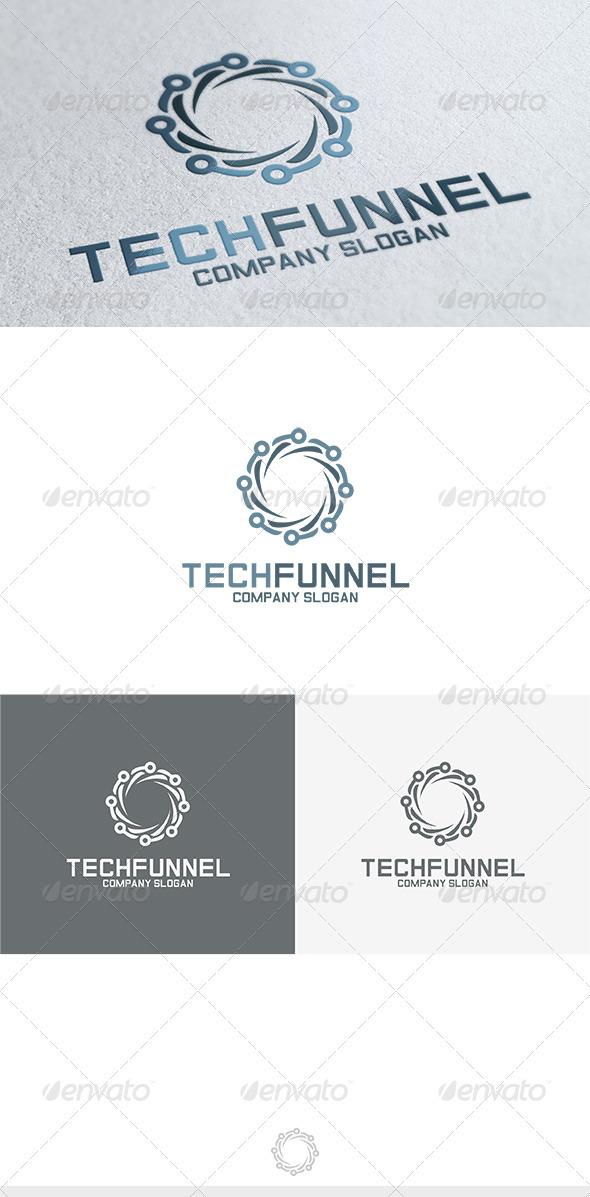 GraphicRiver Tech Funnel Logo 3680821