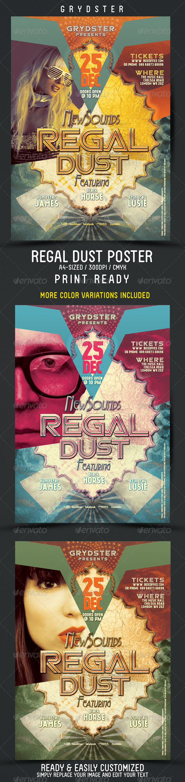 GraphicRiver Regal Dust Flyer Poster 3630751