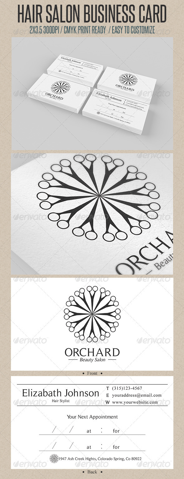 GraphicRiver Beauty Salon Business Card 3631915