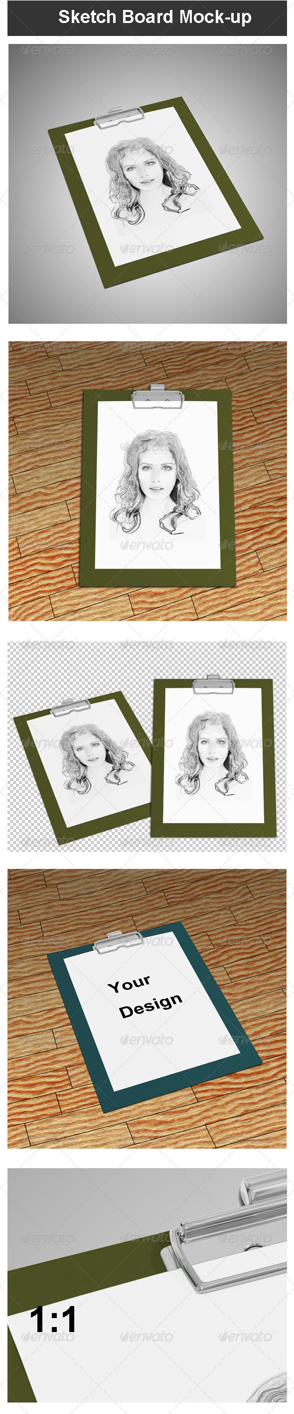 GraphicRiver Sketch Board Mock-up 3652102