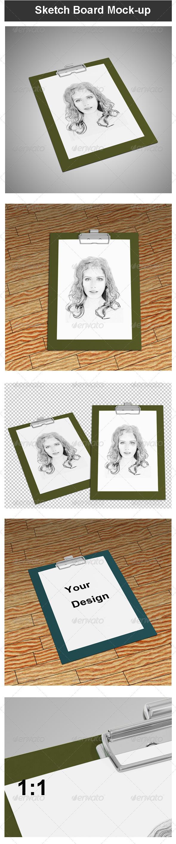 GraphicRiver Sketch Board Mock-up 3652102