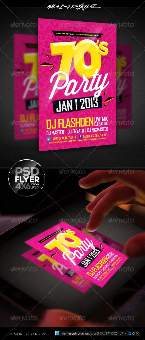 GraphicRiver Retro Theme Party Flyer Template 3684022