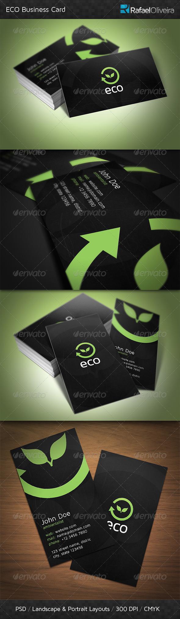 GraphicRiver ECO Business Card 3685282