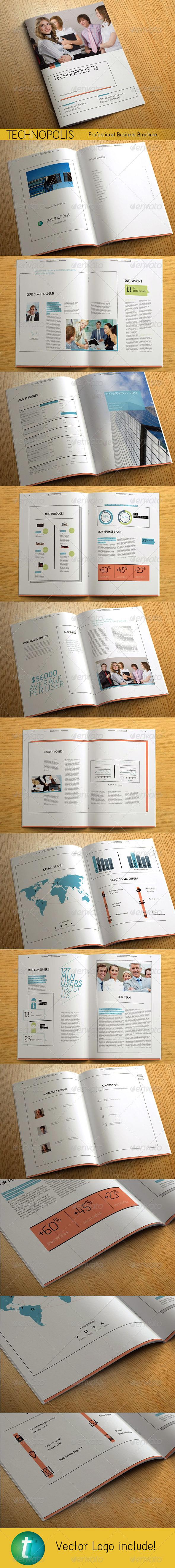 GraphicRiver TECHNOPOLIS Modern Business Brochure 3623342