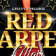 Red Carpet Party Flyer Template - GraphicRiver Item for Sale