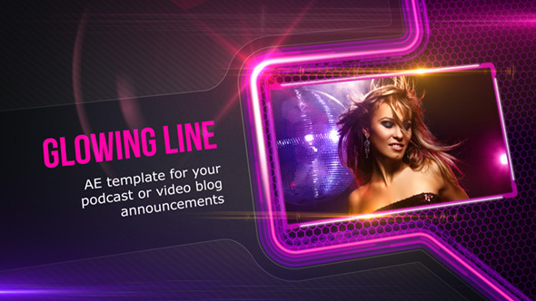 VideoHive Glowing Line dark version 3689873