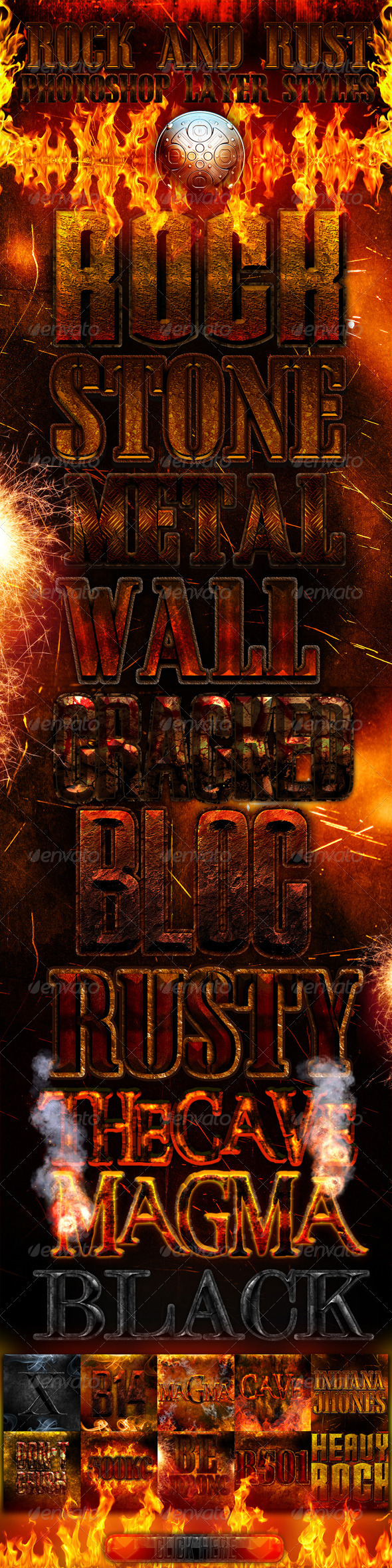 GraphicRiver Rock and rust photoshop layer styles 336114