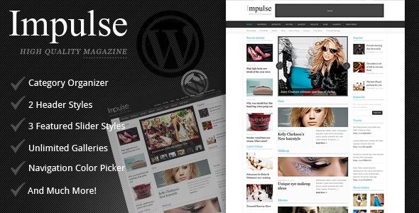 ThemeForest Impulse Clean Magazine Theme 1500221