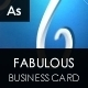 Fabulous Creative Card - GraphicRiver Item for Sale