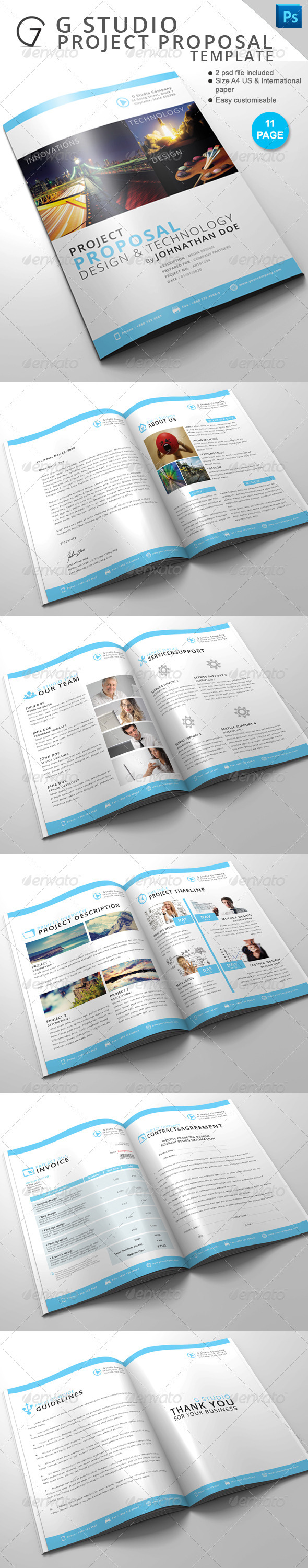 GraphicRiver Gstudio Project Proposal Template 3649580